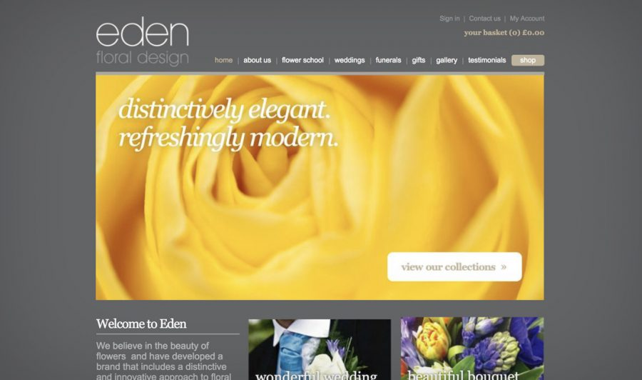 Web Design for Eden Floral