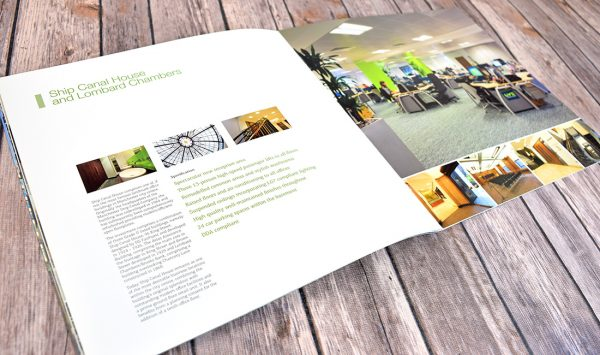 Creative brochure for prime Manchester office space