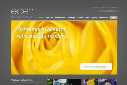 Website redesign Eden Floral
