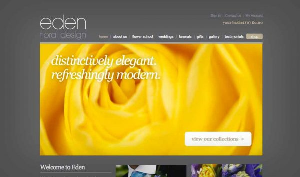 Website redesign Eden Floral