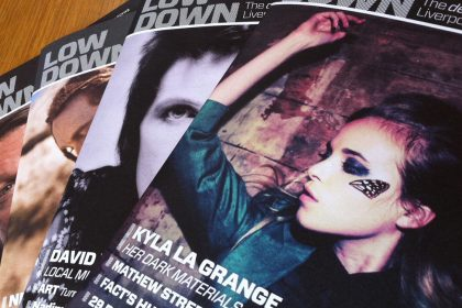 Magazine design covers for Lowdown