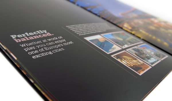 Brochure graphic design The Capital building Liverpool